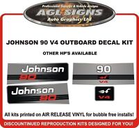 JOHNSON 90 HP V4 Outboard Decal kit reproductions  also 115 120 130 140  hp