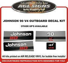 JOHNSON 90 HP V4 Outboard Decal kit reproductions  also 115 120 140  hp