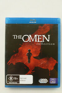 The Omen Collection 1 2 3 Rare Region B Blu-Ray - Horror Films - Free Post Track