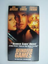 Reindeer Games VHS Video Tape Ben Affleck Gary Sinise Charlize Theron