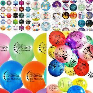 10 Eid Mubarak Or Ramadan Mubarak Balloons Stickers Eid Decorations