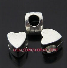 P394 15pc Tibetan Silver Charm heart Spacer Beads accessories wholesale