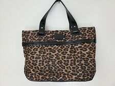 Kate Spade Brown Black Leopard Print Vinyl Large Purse Bag