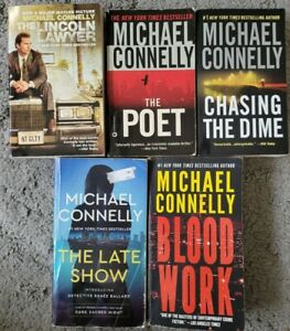 MICHAEL CONNELLY THRILLER MYSTERY CRIME PAPERBACK 5 BOOK LOT FREE SHIPPING
