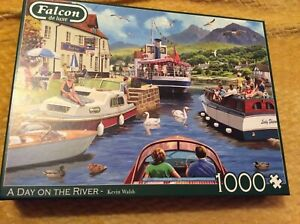 Falcon 1000 piece jigsaw puzzle - A Day On The River - Kevin Walsh VGC