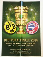 Spielplakat DFB-Pokalendspiel Borussia Dortmund - FC Bayern München, 17.05.2014