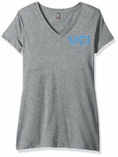 Campus Merchandise Ncaa Cal Irvine Anteaters Women's V-Neck Tee, X-Small, Hea.