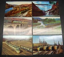 6- Vintage Color Photo RAILROAD Postcards (5) Erie Railroad, (1) MP ca. 1960