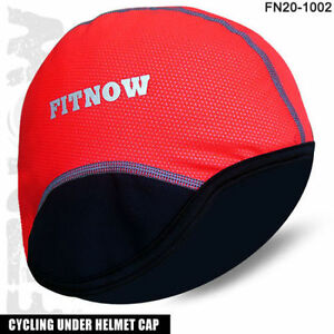 Cycling Skull Under Helmet Cap Cycle Motorbike Thermal Caps Size - Red - S, M, L