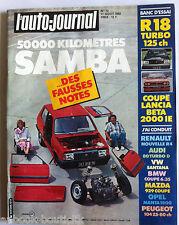 b)L'AUTO-JOURNAL n°13 de 8/1982 Coupé Lancia / 50 000 km en Samba / R 18