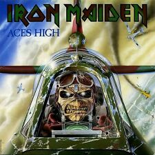 Iron Maiden - Aces High EP Vinyl LP Cover Sticker or Magnet