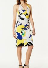 Karen Millen DC213 Women's Multi Floral Party Cocktail Pencil Dress UK 6 TO 16
