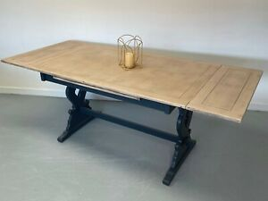 Vintage Extending Refectory Kitchen Dining Table Refurbished