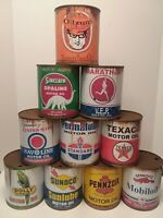 Rusty Motor Oil Cans 1 qt. 6 can Special ! Mix or Match any 6 cans listed !