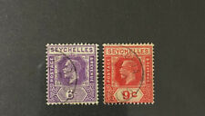 SEYCHELLES  98, 99  Very  Nice  Used  Values  GEORGE V  AG