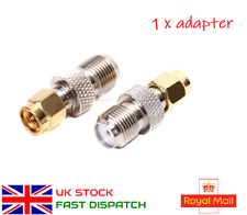 F Type Female Jack to RP-SMA Male Plug Center RF Coaxial Adapter Connector New