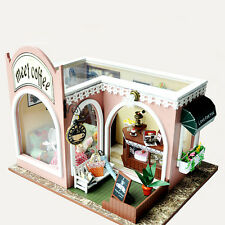 New Kits DIY Wood Dollhouse miniature with LED Furniture cover Doll house room