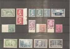LOT COLLECTION TIMBRE FRANCE FRANKREICH 1907/1943 NEUF** MNH 5 SCANS