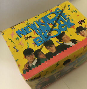 Topps New Kids on the Block Trading Cards, Full 24 Ct Box, Sealed Cello Packs