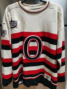 VINTAGE RARE Ottawa Senators CCM Heritage Collection NHL Hockey Jersey XL