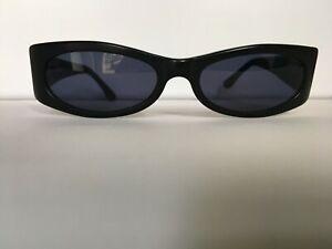 Sonnenbrille Vintage schwarz schmal STING Italy 6181 90er Gr. M