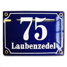Hausnummernschild 12x17 cm Emaille Hausnummern Türnummer Postnummer Hausschild