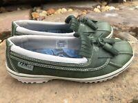 LL Bean Women's Low Duck/Boat Boot Waterproof Shoes TEK 2.5 Size 6M US Green E