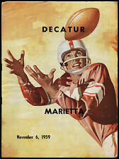 1959 DECATUR vs MARIETTA Atlanta High School Football Program w/ Coca Cola Ad