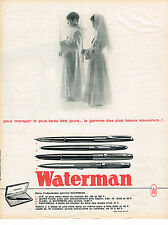 PUBLICITE ADVERTISING  1964   WATERMAN   le plus beau stylo du monde