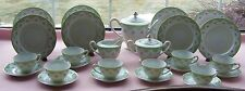27 PCS AICHI CHINA OCCUPIED JAPAN LUNCHEON & TEA SET PINK ROSES GREEN LACE