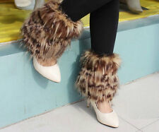 5New Fashion Boot Cuff Fluffy Soft Furry Faux Fur Leg Warmers Boot Toppers
