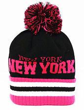 Soft  fold up chic pom pom beanie ski snowboard Men Women Knit top best Hats pin