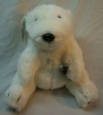 "Coca-Cola 1993 Cute Polar Bear W/ Coke Bottle 7"" Push Stuffed Animal Toy"