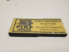 Vintage Pike Translucent Hard Arkansas Oilstone Size 5, Original Box, round edge
