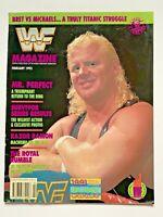 WWF WWE OFFICIAL WRESTLING MAGAZINE MR.PERFECT / HULK HOGAN / BRET HART FEB 1993