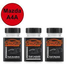 Autolack Lackstift Set Mazda A4A True Red / Kardinalrot Grund- Basis- Klarlack