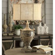 Crestview Jameson Table Lamp I With Distressed Wood Finish CVAVP974A