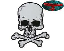 Skull back Patch proyectar reflejos grande Patch aufbügler Biker back Patch Harley 1%