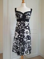 Ladies Black Mix ROCHA. JOHN ROCHA COTTON DRESS SIZE 12 PETIT