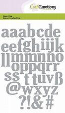 Stanzschablonen Kleinbuchstaben von CraftEmotions  105mm x 148mm 115633/0502
