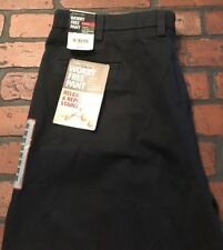 St. Johns Bay Worry Free Pleated Pants Relaxed Fit Men's Size 40 x 29 NWT Navy
