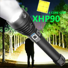 990000LM Xhp90 Xhp50 Ultra Bright LED 18650 26650 Rechargeable Zoom Flashlight