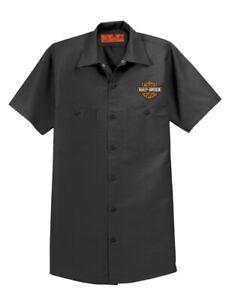 RED KAP Industrial Mechanic Shirt Motorcycle Biker Father Gift Harley Davidson