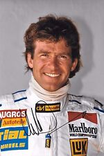 Christian Danner SIGNED 12x8  F1 Rial Portrait  1989 Grand Prix Season
