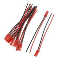 SODIAL (R) 10 Stueck 2 Pin JST-Stecker 22AWG Draht Kabel 100mm lang fuer RC E5F9