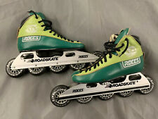 Rare Green Roces Atl Lowrider Inline Roadskate - Made In Italy.