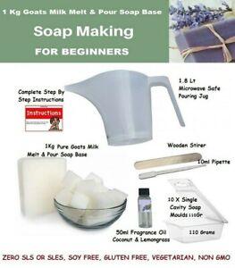 GOATS MILK Melt & Pour Soap Making Kit ~ 1KG