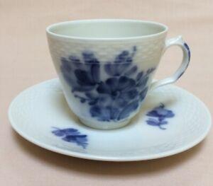 "Royal Copenhagen ""Blue Flowers"" (Pattern #10) COFFEE CUP & SAUCER"