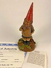 Fielding 1986 Tom Clark Gnome Signed Figurine Coa & Story 10