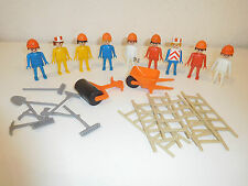 Playmobil  9 workers like the ones from set 3201